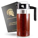 Barista Legends Cold Brew Coffee Maker - 1200ml Glas Kaffeebereiter mit Kunststoff Griff - Optimale...