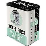 Nostalgic-Art 30146 Aufbewahrungs-Box | Kaffee Blech-Dose | Metall Vorratsdose L, Say it 50's-Coffee...