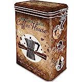 Nostalgic-Art Retro Kaffeedose Coffee House – Geschenk-Idee für Kaffee-Liebhaber, Blech-Dose mit...