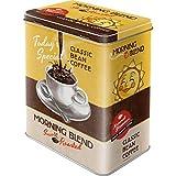Nostalgic Art Retro L Vorratsdose, Große Kaffee-Dose aus Blech, Coffee & Chocolate - Morning Blend,...