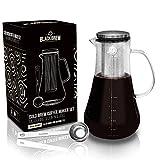 BLACKBREW Cold Brew Coffee Maker Set - Kaffeebereiter für kaltgebrühten Kaffee oder heißen Tee -...