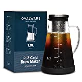 ovalware Cold Brew Coffee Maker - Luftdichte Kaffeemaschine für kalten Kaffee und Teesieb mit...