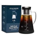 Cold Brew Coffee Maker - Luftdichte Kaffeemaschine für kalten Kaffee und Teesieb mit Ausguss - 1,0L...