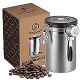 Sembano Kaffeedose Luftdicht 500g Edelstahl Kaffeebehälter Vakuum Kaffeebohnenbehälter Aromadicht...