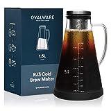 Cold Brew Coffee Maker - Luftdichte Kaffeemaschine für kalten Kaffee und Teesieb mit Ausguss - 1,5L...