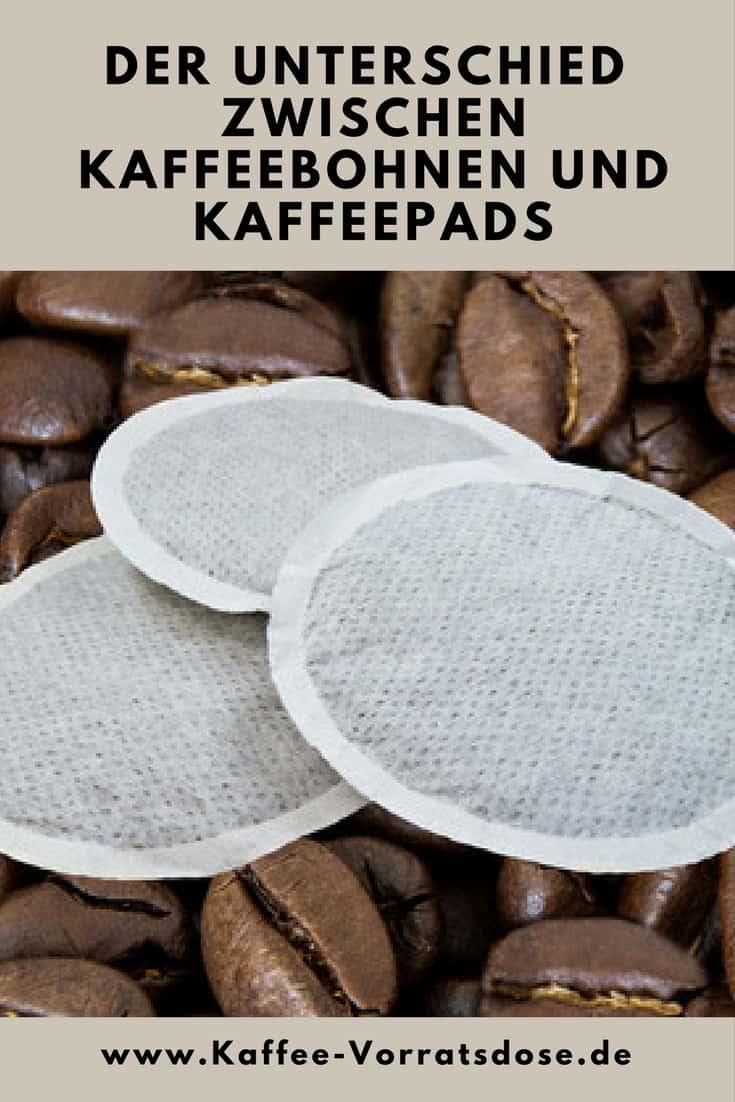 Wo liegen die Unterschiede zwischen Kaffeebohnen und Kaffeepads